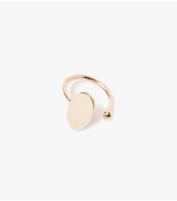 Oval Earcuff in 9K Gold